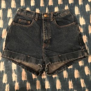 American Apparel high waisted shorts!